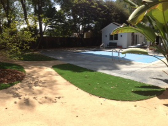 Installing Artificial Grass Wauconda, Illinois Landscaping, Backyard Pool artificial grass