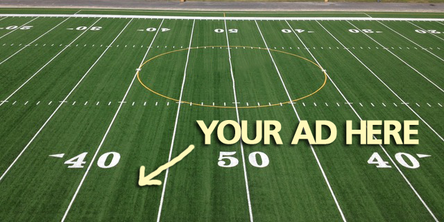syntheticgrass School Sells Ad Space on Field Surface to Pay for Synthetic Turf